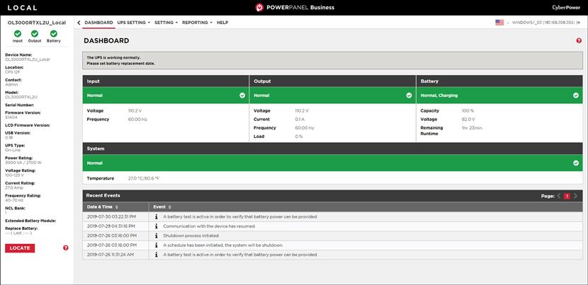 Green status local screenshot