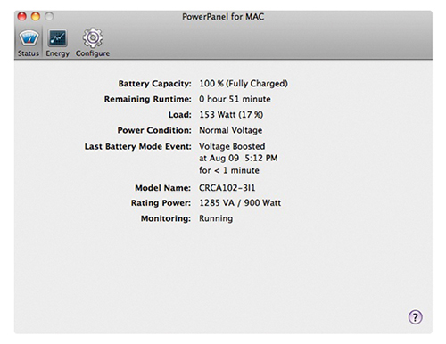 CyberPower PowerPanel for Mac