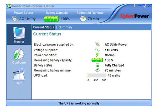 CyberPower PowerPanel Personal Edition for Windows