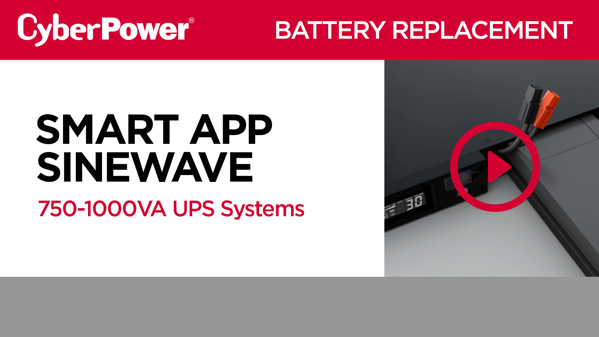 1U Smart App Sinewave 750-1000VA Series Replacement Battery