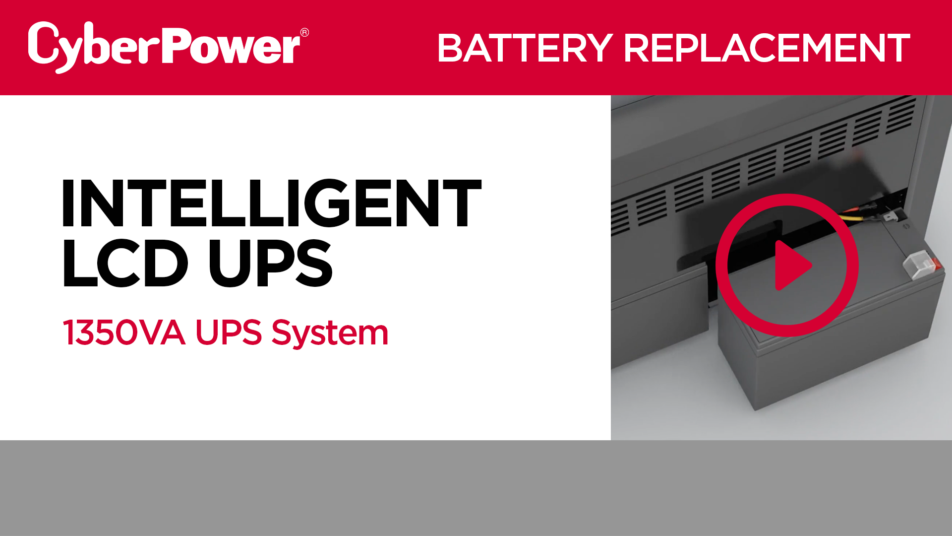 Intelligent LCD 1350VA Replacement Battery