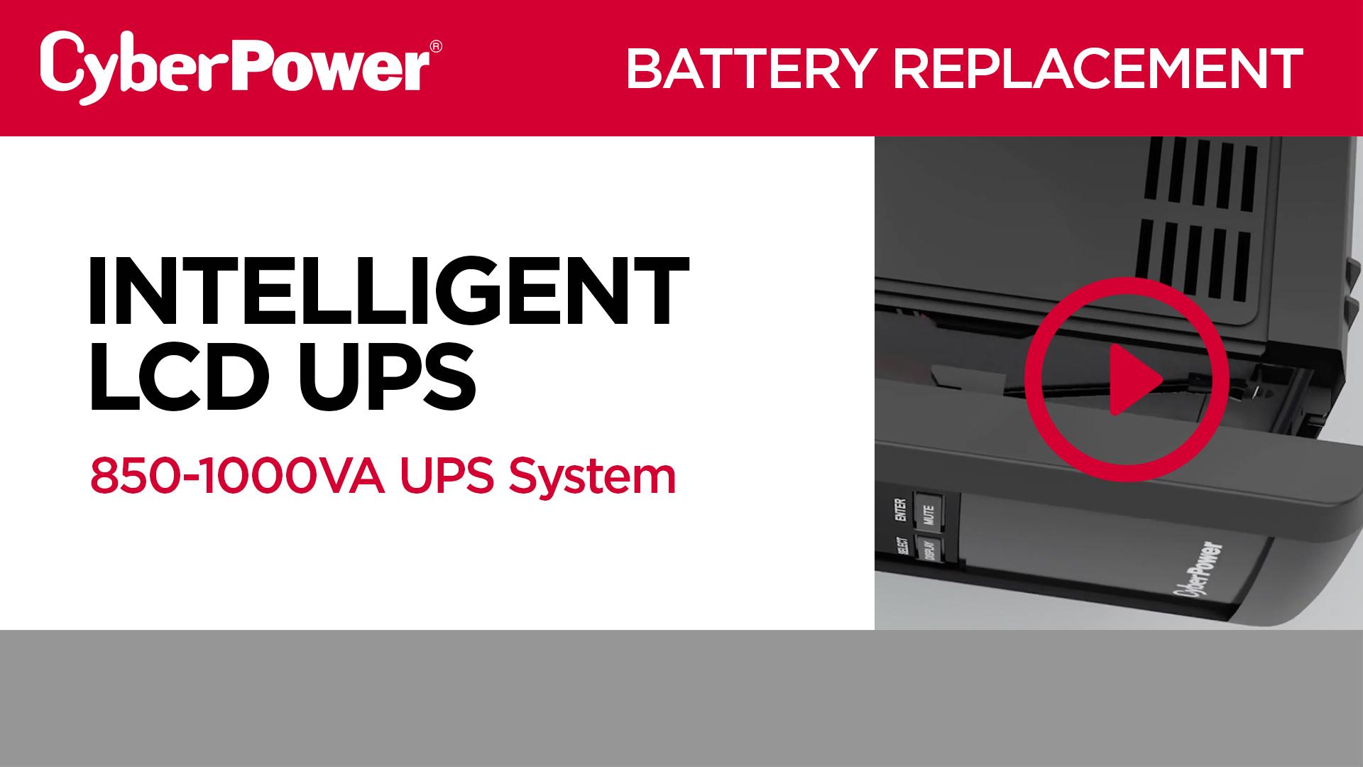 Intelligent LCD 850-1000VA Replacement Battery