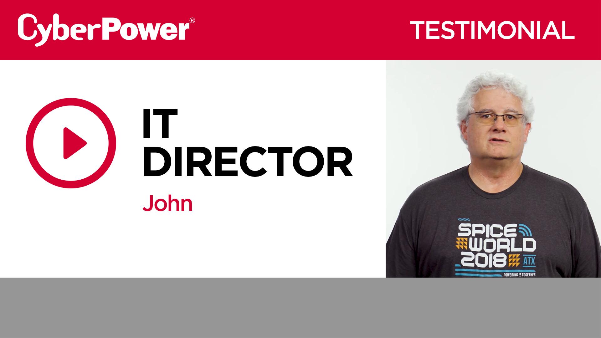 John IT Director Testimonial
