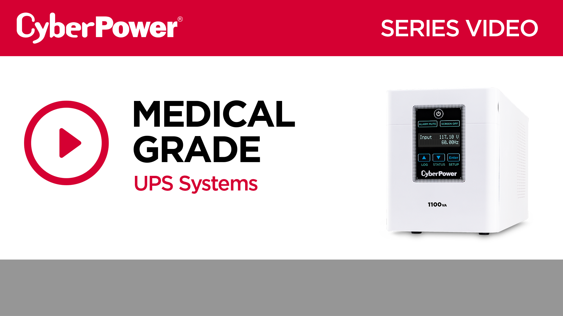 Hospital/Medical UPS Video