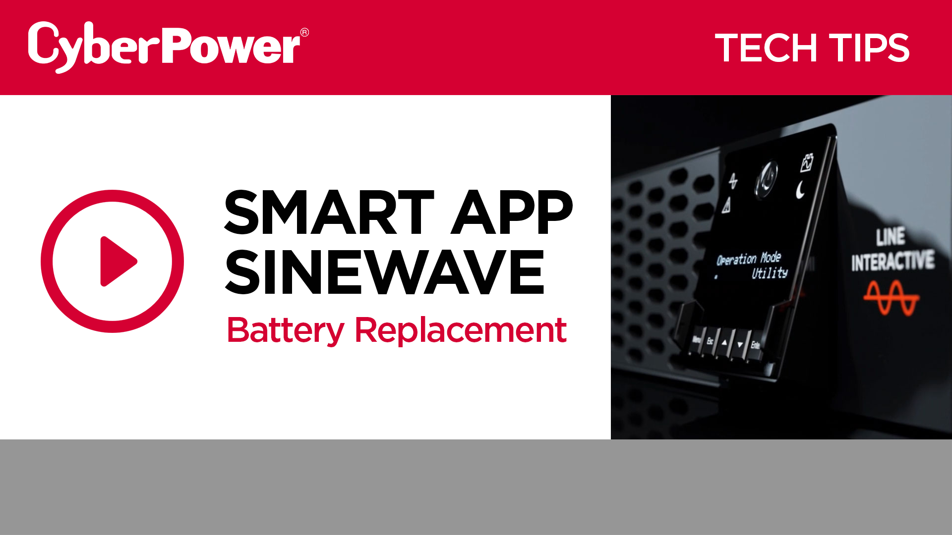 New Smart App Sinewave Battery Replacement