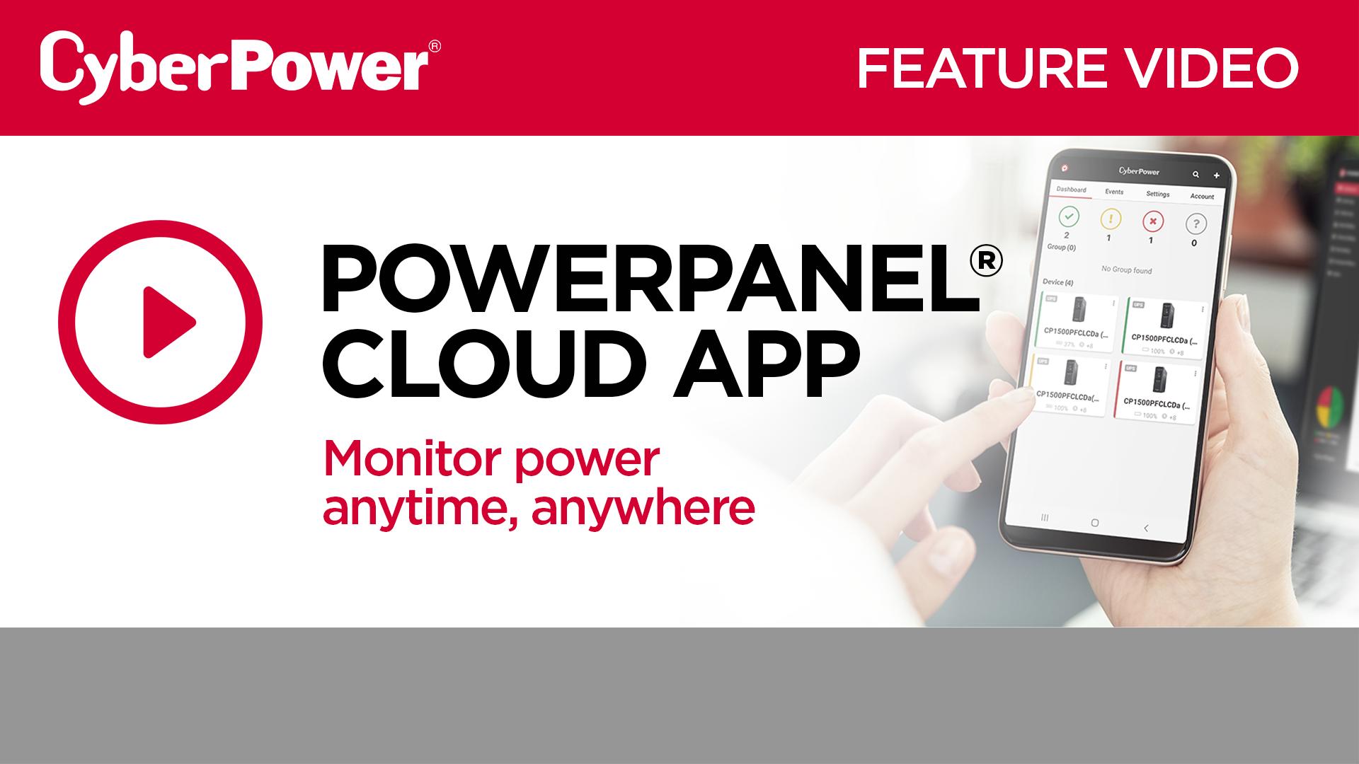 PowerPanel Cloud Feature