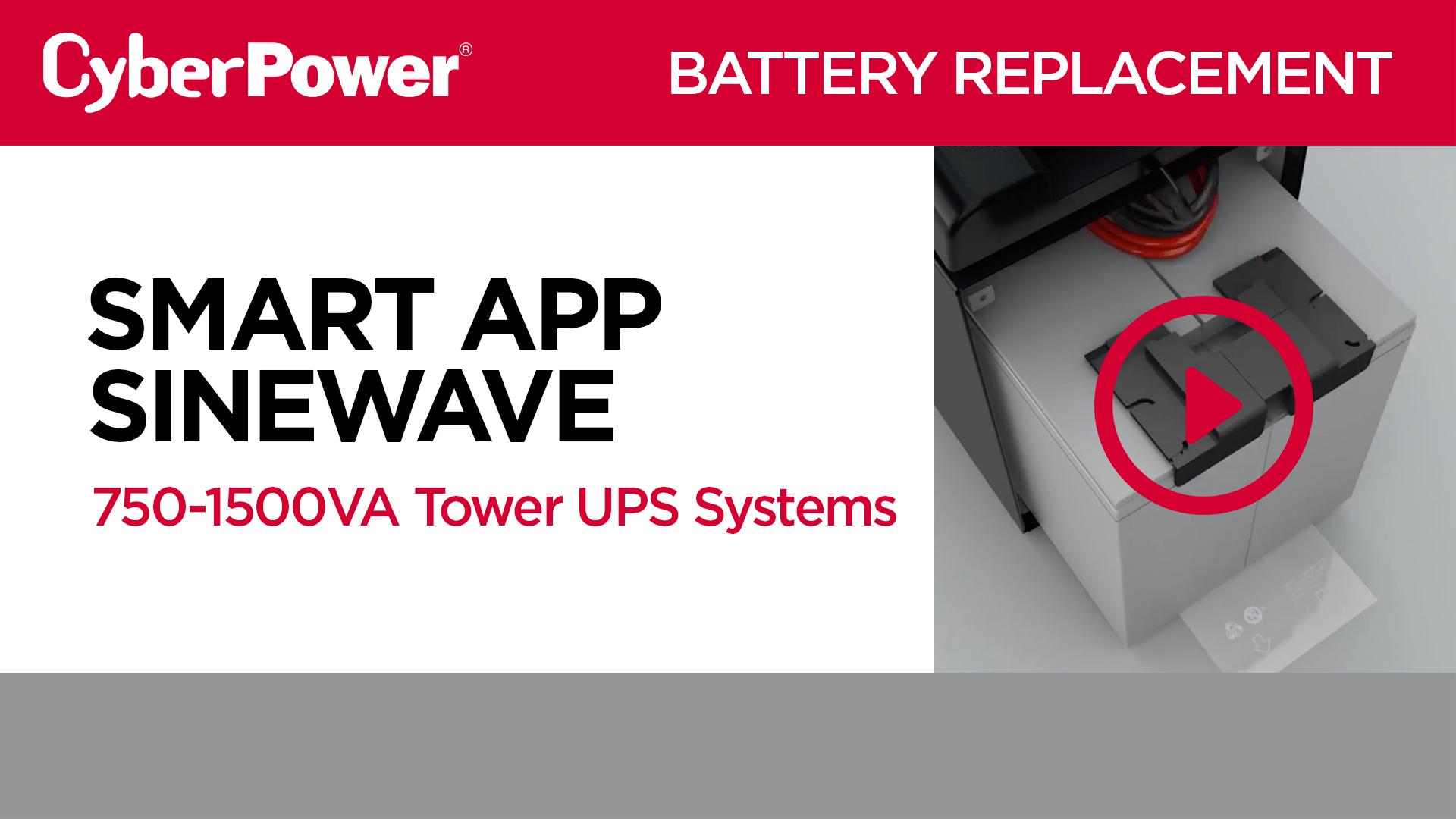 Smart App Sinewave 750-1500VA Tower Replacement Battery