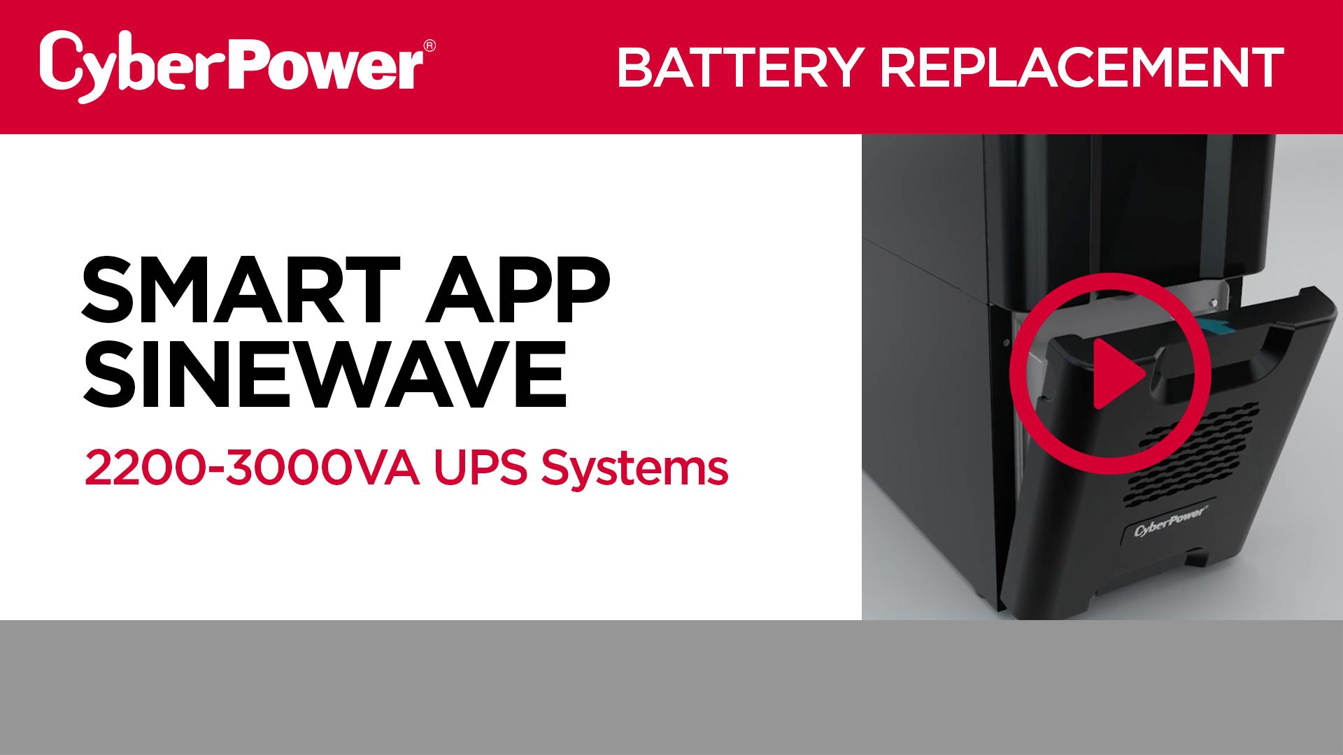 Smart App Sinewave 2200-3000VA Tower Replacement Battery