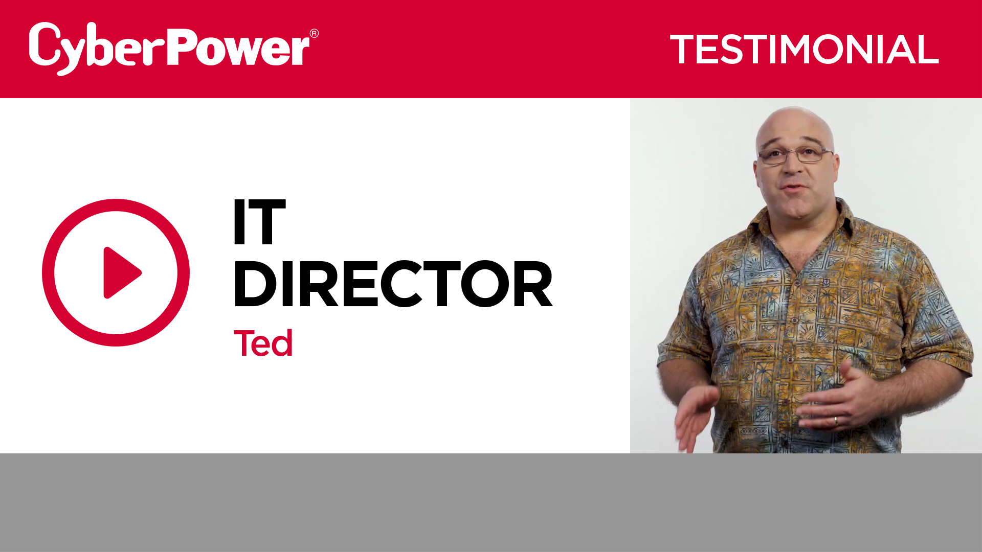 Ted IT Director Testimonial